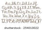 3d metal letters style alphabet ... | Shutterstock . vector #254013022