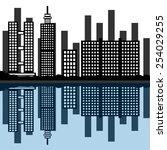 city landscape. | Shutterstock .eps vector #254029255