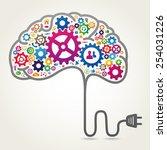 creative brain concept | Shutterstock .eps vector #254031226