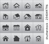 real estate icons | Shutterstock .eps vector #254049796