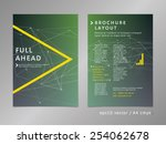 brochure  catalog  cover  page... | Shutterstock .eps vector #254062678