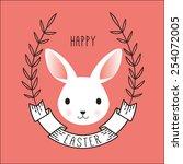Cute Vector Portrait Of Bunny....