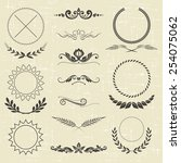 set of design elements and... | Shutterstock .eps vector #254075062