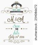 wedding invitation graphic set. | Shutterstock .eps vector #254086672