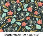 Floral Background Pattern. Can...