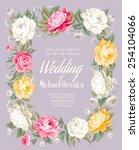 wedding invitation template... | Shutterstock .eps vector #254104066