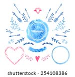 vector watercolor design... | Shutterstock .eps vector #254108386