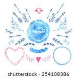 Постер, плакат: Vector Watercolor design elements