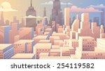 cityscape at sunrise. basic ... | Shutterstock .eps vector #254119582