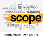 scope word cloud  business... | Shutterstock .eps vector #254121676