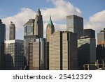 A view of the diverse style of New York City architecture. - stock photo