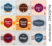 set of retro vintage badges and ... | Shutterstock .eps vector #254126746