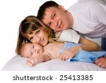 young mother and father holding ... | Shutterstock . vector #25413385