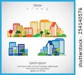 creative urban landscape  | Shutterstock .eps vector #254140576
