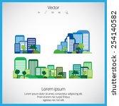 creative urban landscape  | Shutterstock .eps vector #254140582