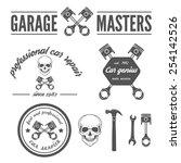 set of logo  badge  emblem and... | Shutterstock .eps vector #254142526
