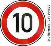 german traffic sign restricting ... | Shutterstock . vector #254144812