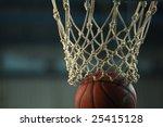 action shot of basketball going ... | Shutterstock . vector #25415128