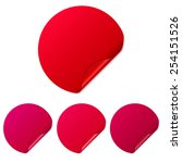 set of red round stickers.... | Shutterstock .eps vector #254151526