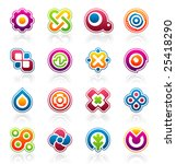 set of colorful abstract design ... | Shutterstock .eps vector #25418290