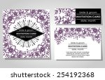 wedding invitation cards with... | Shutterstock .eps vector #254192368