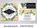 wedding invitation cards with... | Shutterstock .eps vector #254192392