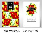 wedding invitation cards with... | Shutterstock . vector #254192875