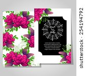 wedding invitation cards with... | Shutterstock .eps vector #254194792