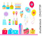 vector birthday elements. | Shutterstock .eps vector #25419739