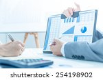 business people discussing the... | Shutterstock . vector #254198902