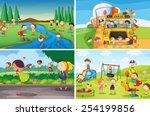 Illustration Of Many Children...