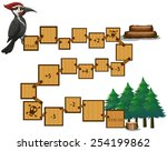 illustration of a puzzle game... | Shutterstock .eps vector #254199862