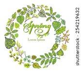 vector spring composition.green ... | Shutterstock .eps vector #254219632