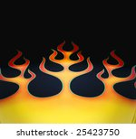 flame graphic paint job on hot... | Shutterstock . vector #25423750