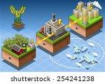 green energy harvesting ecology ... | Shutterstock . vector #254241238