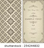 set of antique greeting cards ... | Shutterstock .eps vector #254244832