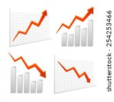 set vector chart graph icon... | Shutterstock .eps vector #254253466