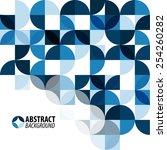 modern geometrical abstract... | Shutterstock .eps vector #254260282