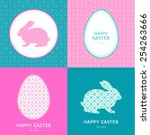 vector abstract set with bunny... | Shutterstock .eps vector #254263666