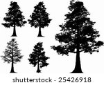 vector trees  oak    fall tree | Shutterstock .eps vector #25426918