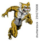 A Wildcat Man Character Or...