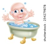 an illustration of a happy cute ... | Shutterstock . vector #254279878