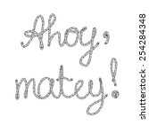 ahoy  matey  rope lettering... | Shutterstock .eps vector #254284348