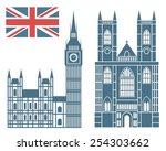 England. Vector. Silhouette....