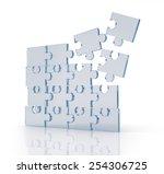 transparent puzzles. | Shutterstock . vector #254306725