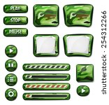 military camo icons elements...
