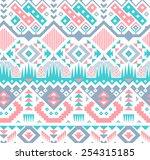 vector seamless pink   blue... | Shutterstock .eps vector #254315185