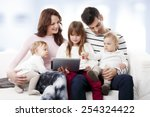 portrait of happy young family... | Shutterstock . vector #254324422