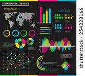colorful infographic element on ... | Shutterstock .eps vector #254328166