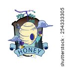 honey house | Shutterstock .eps vector #254333305